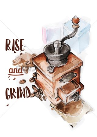 Handles : Coffee grinder with quote