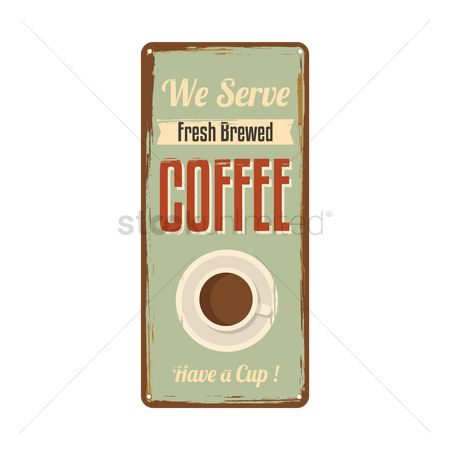 Serve : Coffee signboard
