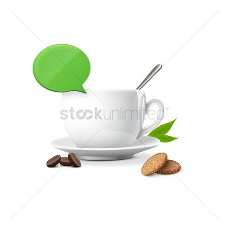 Cookie : Coffee with cookies and chat bubble