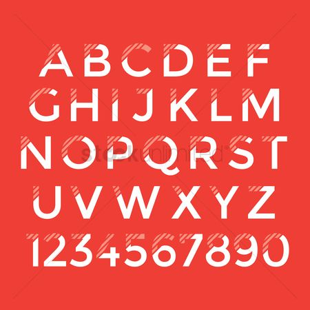 Typographics : Collection of alphabets and numbers