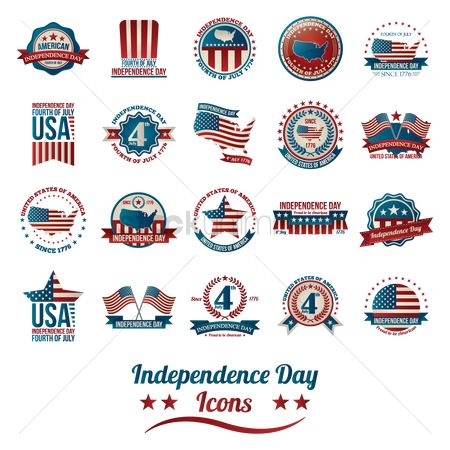 Patriotic : Collection of american independence day icons