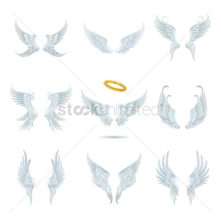 Freedom : Collection of angel wing designs