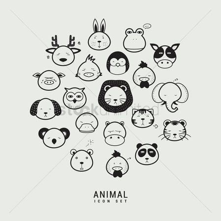 Owl : Collection of animal icons