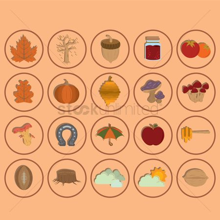 Jar : Collection of autumn icons