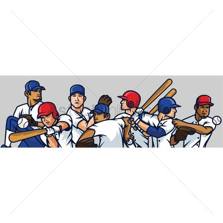 Athletes : Collection of baseball players
