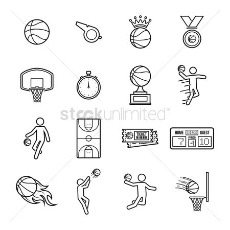Recreation : Collection of basketball icons