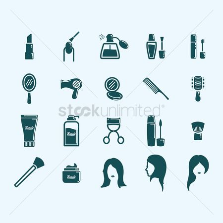 Products : Collection of beauty products