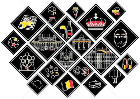 Royal : Collection of belgium icons