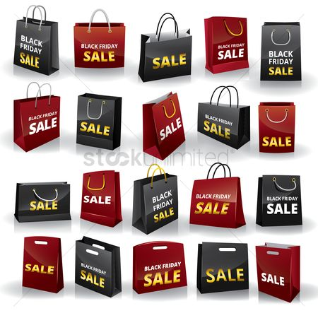 Black friday : Collection of black friday shopping bags