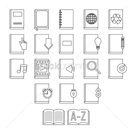 Audio book : Collection of book icons