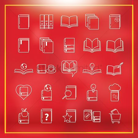 E commerces : Collection of book icons