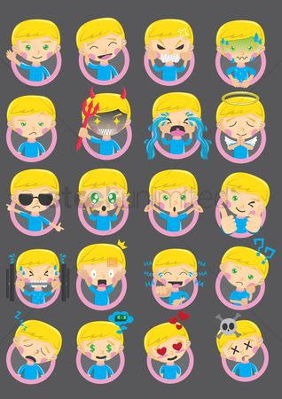 Boys : Collection of boy emoticons