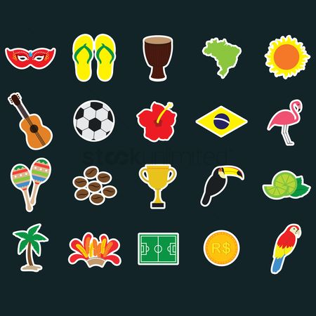 Toco toucan : Collection of brazilian stickers