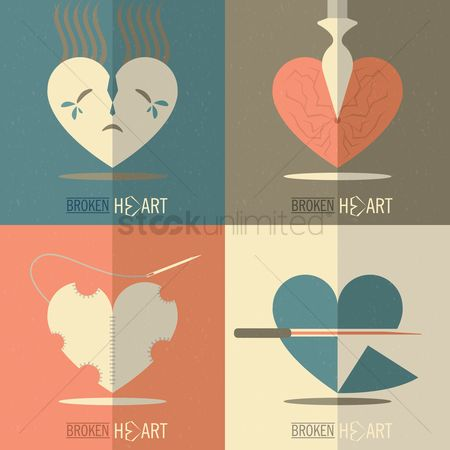 Needle : Collection of broken heart cards