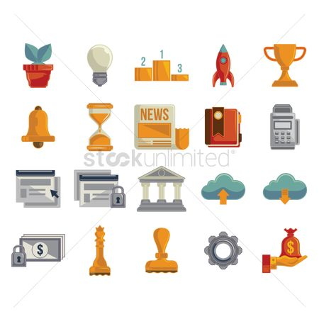 Icons news : Collection of business icon