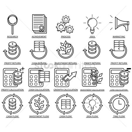 Researching : Collection of business icons