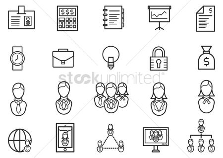 Screens : Collection of business icons
