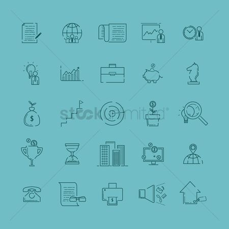 Reward : Collection of business icons