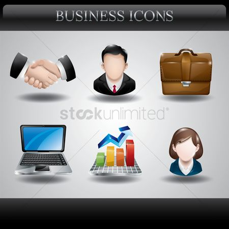 Profits : Collection of business icons
