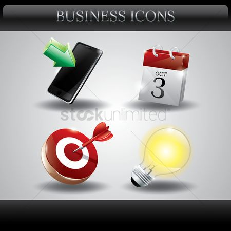Dartboard : Collection of business icons