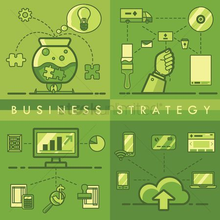 Setting : Collection of business strategy concept