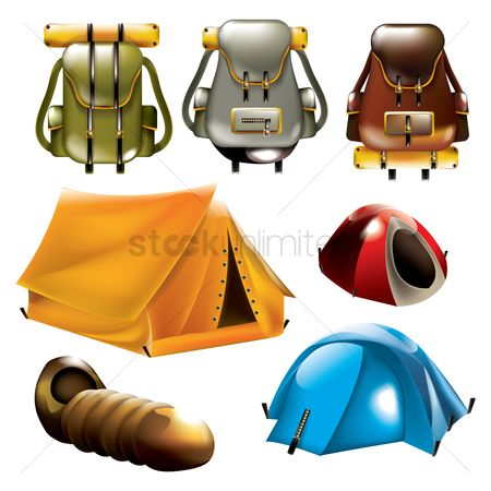 Tents : Collection of camping equipment