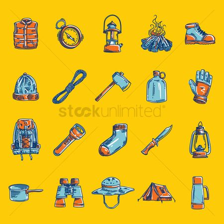 Huge : Collection of camping equipment