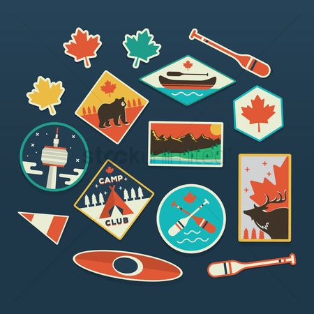 Paddle : Collection of canada labels