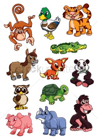 Duck : Collection of cartoon animals