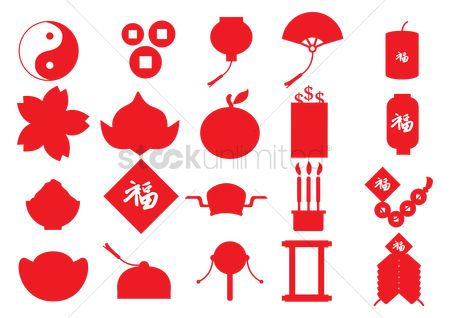 Firecracker : Collection of chinese icons