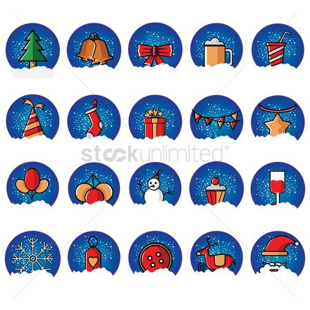 Beer : Collection of christmas icons