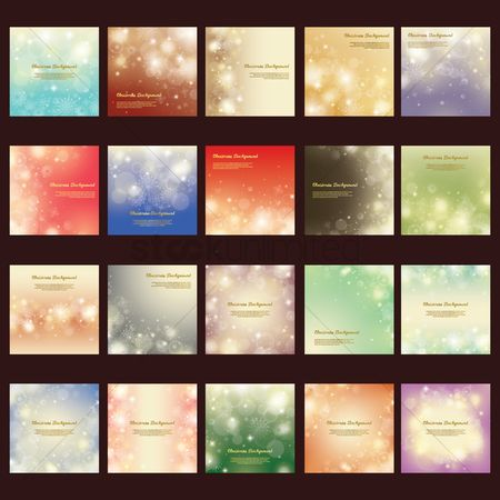 Season : Collection of christmas sparkle background design