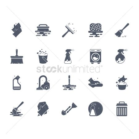 Brooms : Collection of cleaning icons