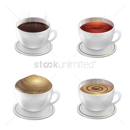 Aroma : Collection of coffee cups