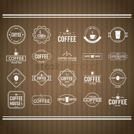 Fresh : Collection of coffee store sign