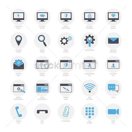 Call : Collection of computer icons