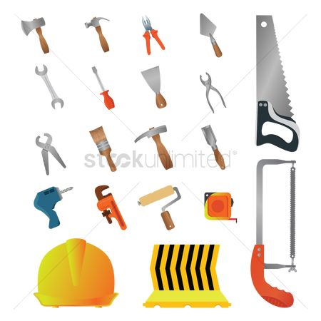 Hardwares : Collection of construction icons