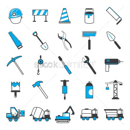 Barrier : Collection of construction icons