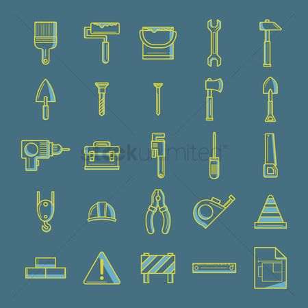 Pliers : Collection of construction tool icons