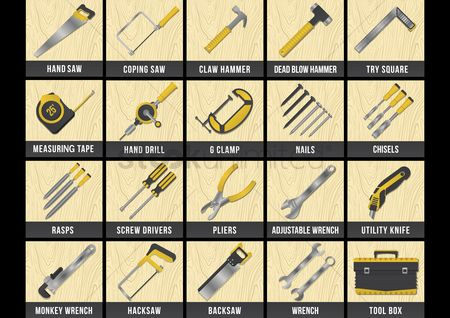 Screwdrivers : Collection of construction tools