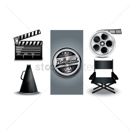 Folding chair : Collection of director equipment