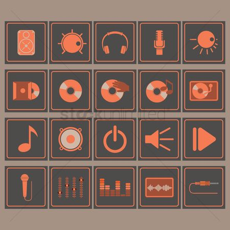 Volume : Collection of dj icons