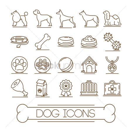 Toys : Collection of dog icons