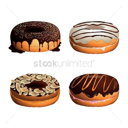Confectionery : Collection of donuts