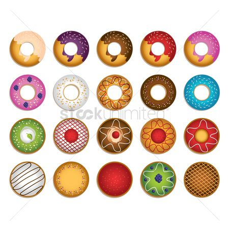 Confectionery : Collection of doughnut