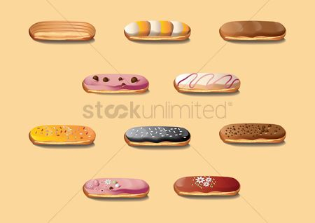 French : Collection of eclairs