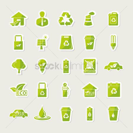 Shopping : Collection of eco icons