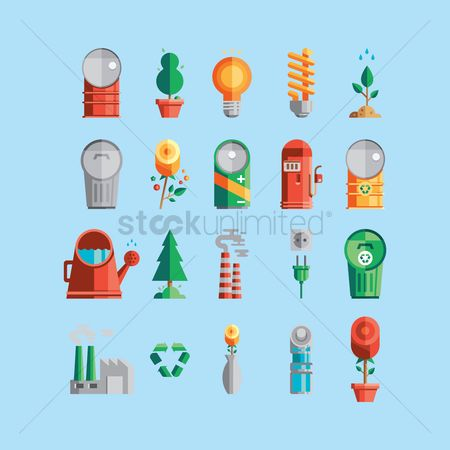 Chimneys : Collection of eco icons