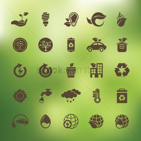 Bicycles : Collection of eco icons