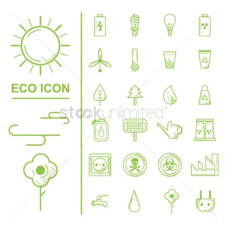 Caution : Collection of eco icons